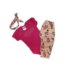 1272001 conjunto body e calca pink